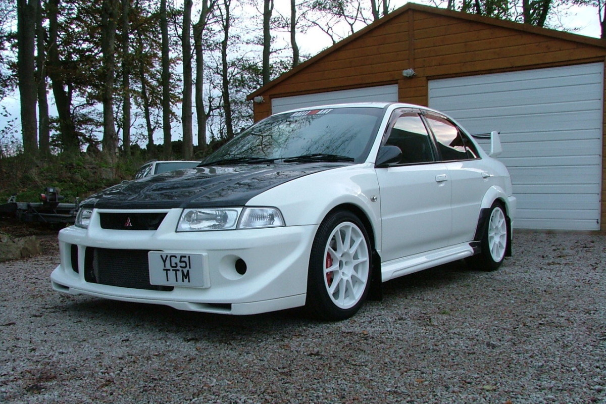 Chris's old Mitsubishi Evo